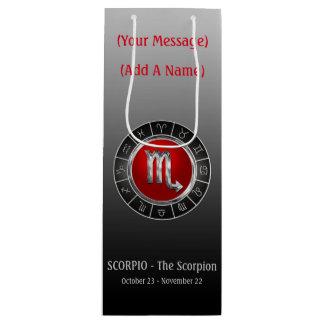 Sac Cadeau Pour Bouteille Le symbole de l'horoscope du scorpion