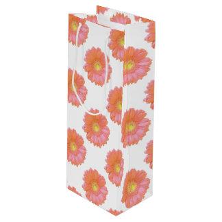 Sac Cadeau Pour Bouteille Marguerite orange de gerbera
