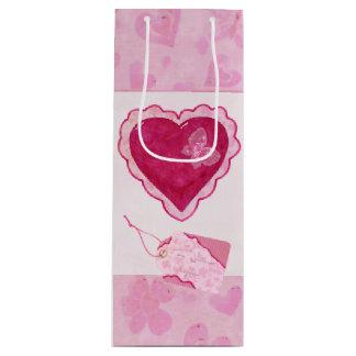 Sac Cadeau Pour Bouteille Médias mélangés adorables de fleurs de Valentine