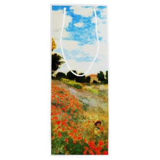 Sac Cadeau Pour Bouteille Monet-Pavots de Claude à Argenteuil