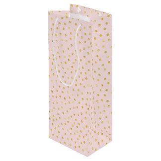 Sac Cadeau Pour Bouteille Motif de points élégant de confettis de rose et de
