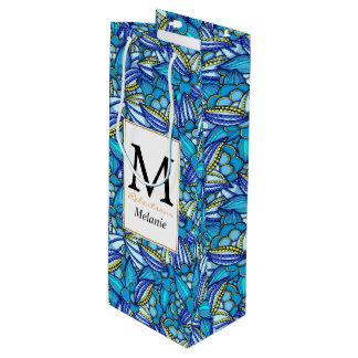 Sac Cadeau Pour Bouteille Motif ethnique abstrait de graines de cacao de