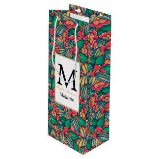 Sac Cadeau Pour Bouteille Motif illustré abstrait coloré de graines de cacao