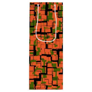 Sac Cadeau Pour Bouteille Motif noir orange vert de Digitals Camo