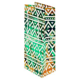 Sac Cadeau Pour Bouteille Motif tribal V01A d'imaginaire