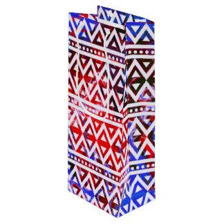 Sac Cadeau Pour Bouteille Motif tribal V01C d'imaginaire