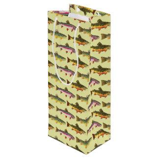 Sac Cadeau Pour Bouteille Pêche belle de truite, ichtyologie