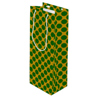 Sac Cadeau Pour Bouteille Ruban de fleur de vert vert