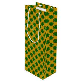 Sac Cadeau Pour Bouteille Ruban de trèfle de vert vert