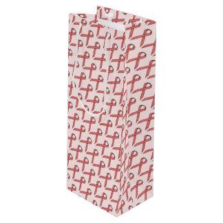 Sac Cadeau Pour Bouteille Ruban standard rose