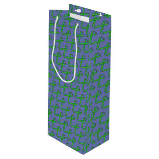 Sac Cadeau Pour Bouteille Ruban standard vert