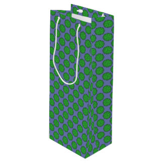 Sac Cadeau Pour Bouteille Ruban vert de fleur