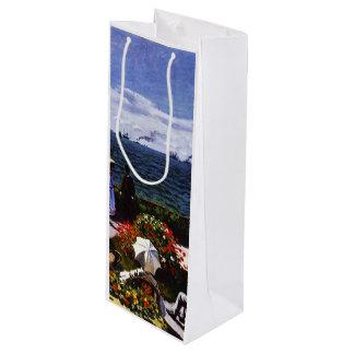 Sac Cadeau Pour Bouteille Terrasse de Claude Monet-The chez Sainte-Adresse