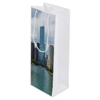 Sac Cadeau Pour Bouteille Tour la rivière Chicago d'atout