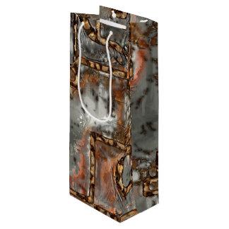 Sac Cadeau Pour Bouteille Vieux mur A en métal