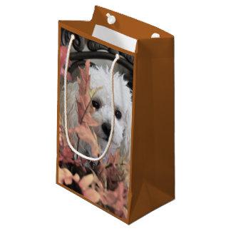 Sac de cadeau de chien de caniche de thanksgiving