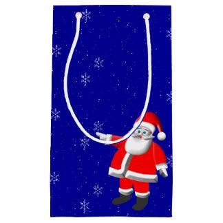 Sac de cadeau de neige de Père Noël