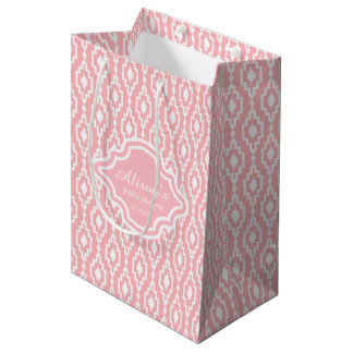 Sac de cadeau - de trellis rose rhombique