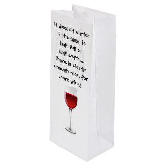 Sac de cadeau de vin avec l'énonciation drôle