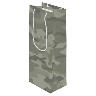 Sac de cadeau de vin d'impression de camouflage