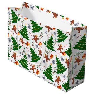 Sac de cadeau d'éléments de Noël grand