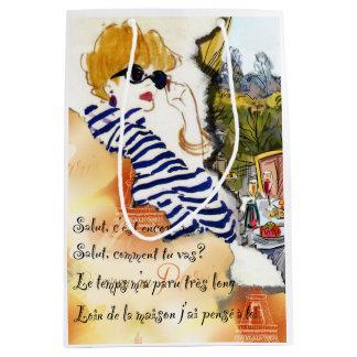 Sac de cadeau d'illustration de Paris