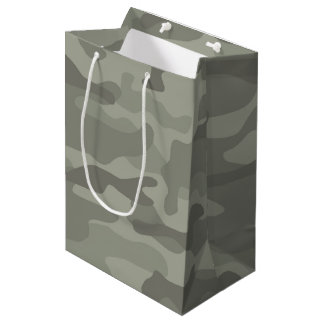 Sac de cadeau d'impression de camouflage