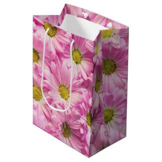 Sac de cadeau - marguerites roses de Gerbera