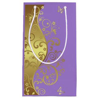 Sac de cadeau--Remous et lavande d'or