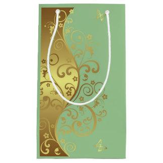 Sac de cadeau--Remous et Seafoam d'or