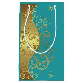Sac de cadeau--Remous et Teal d'or