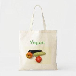 Sac de la matière avec l'étiquette Vegan