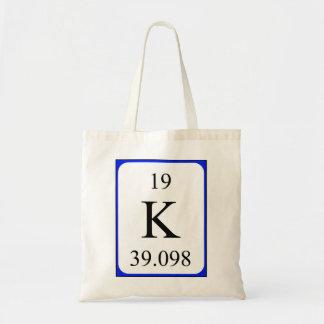 Sac de l'élément 19 - blanc de potassium