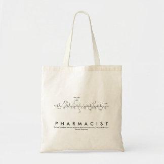 Sac de nom de peptide de pharmacien