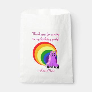 Sac délabré mignon de faveur de licorne (rose) sachets en papier