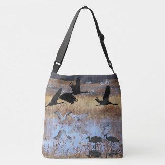 Sac d'épaule d'animaux de faune d'oiseaux de grue