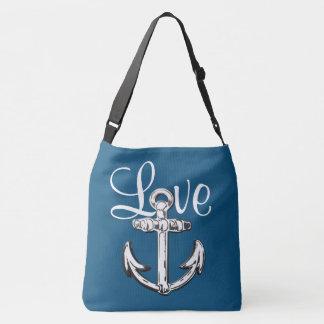 Sac d'épaule nautique de cottage de plage d'amour