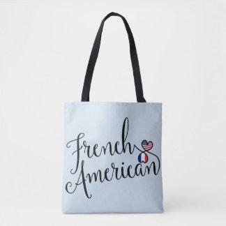 Sac d'épicerie enlacé par Américain français de