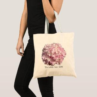 Sac floral rose de mariage d'hortensia