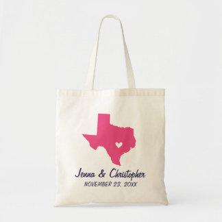 Sac fourre-tout à accueil de mariage du Texas de r
