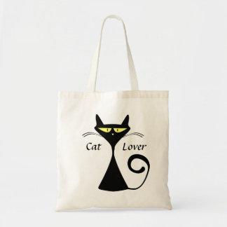 Sac fourre-tout à chat noir de bande dessinée