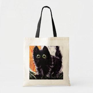 Sac fourre-tout à chat noir de Halloween de des