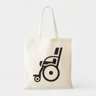 Sac fourre-tout à icône de fauteuil roulant