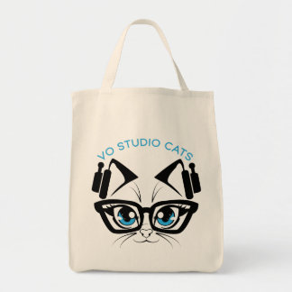 Sac fourre-tout à logo de chats de studio