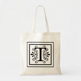 Sac fourre-tout à monogramme de la lettre T