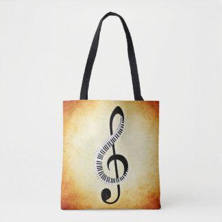 Sac fourre-tout à notes musicales