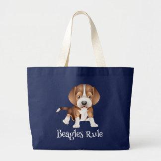 Sac fourre - tout à toile de chiot de beagle