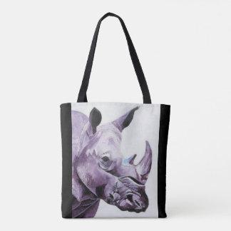 Sac fourre-tout avec la conception de rhinocéros