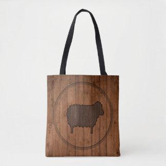 Sac fourre-tout en bois à moutons