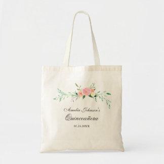 Sac fourre-tout floral botanique à Quinceanera
